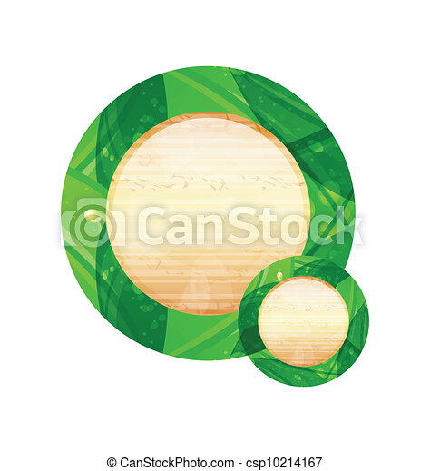 Eco friendly wooden icon for web design - csp10214167