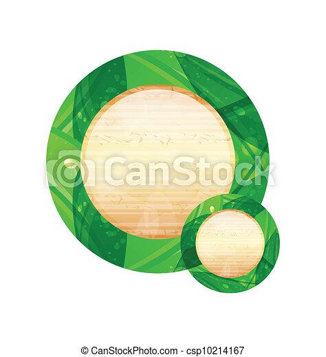 Eco friendly wooden icon for web design - csp10214167