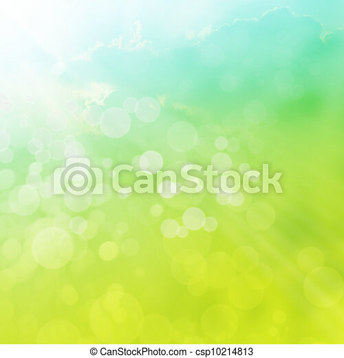 Spring or summer abstract background - csp10214813