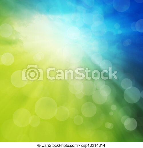 Spring or summer abstract background - csp10214814