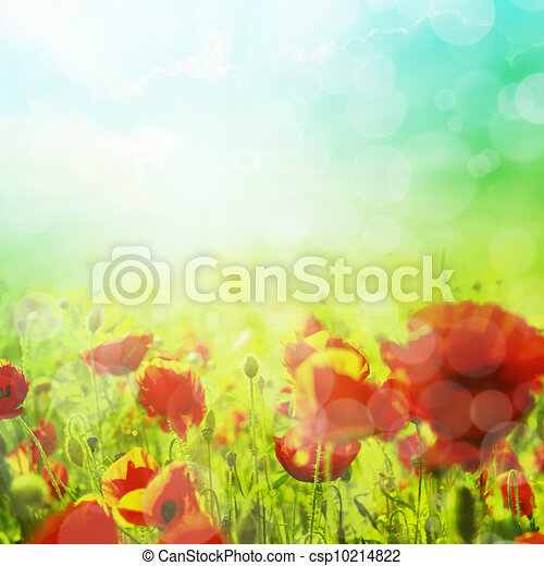 Spring or summer abstract background with bokeh - csp10214822