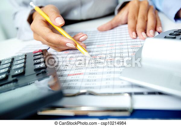 contabilidade, notas - csp10214984