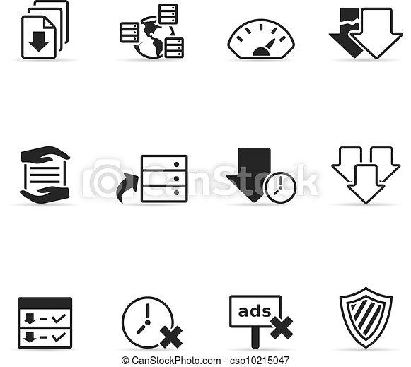 File Sharing Icons - csp10215047