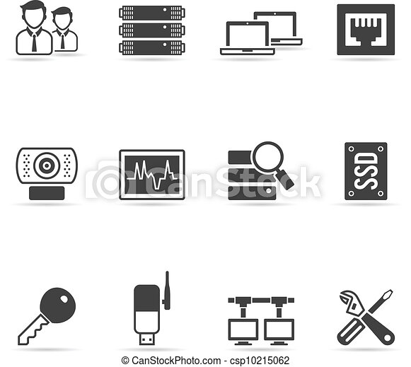 More Computer Network Icons - csp10215062