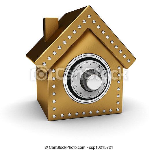 Gold house safe - csp10215721