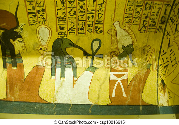 Ancient Egyptian Gods mural - csp10216615