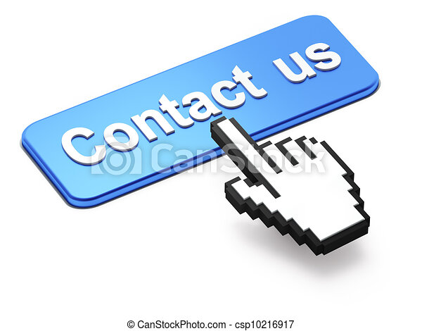 Hand-shaped mouse cursor press Contact Us  button - csp10216917
