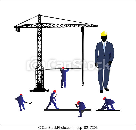 Vector Clipart Of Construction Site Construction Site