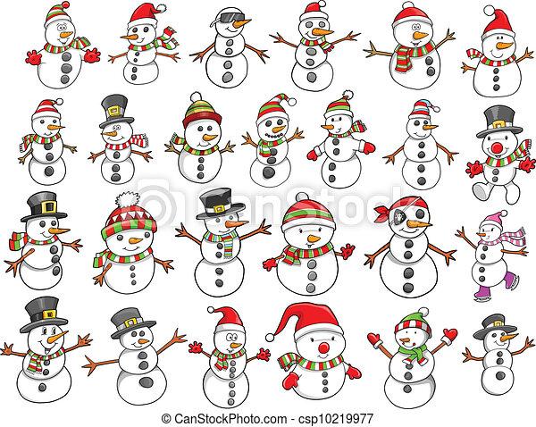 Christmas Holiday Snowman set - csp10219977