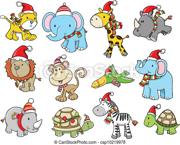 Christmas Holiday Safari vector set - csp10219978