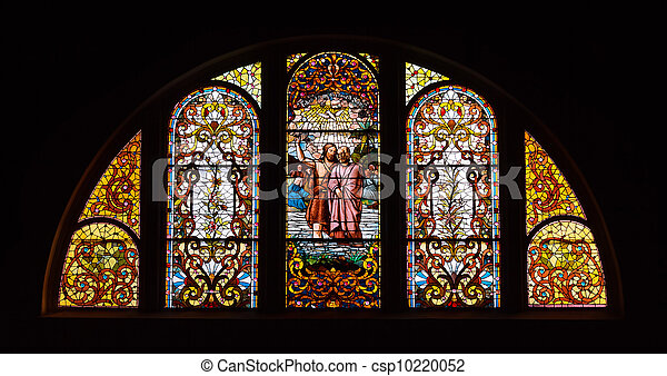 Stained Glass Church Window - csp10220052