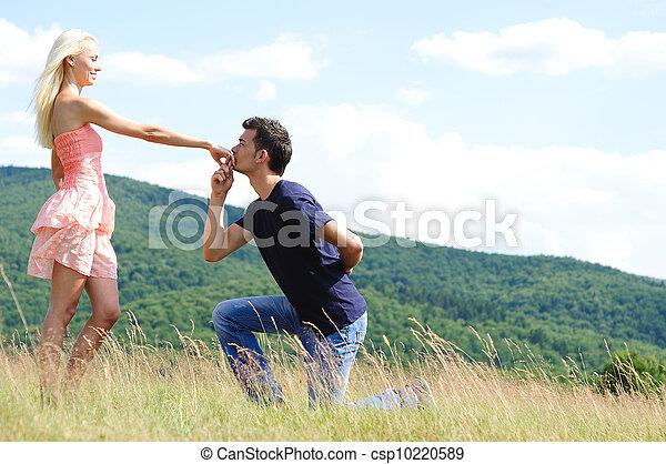 Boyfriend kiss girl hand