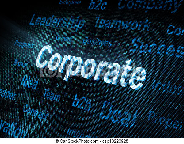 Pixeled word Corporate on digital screen - csp10220928