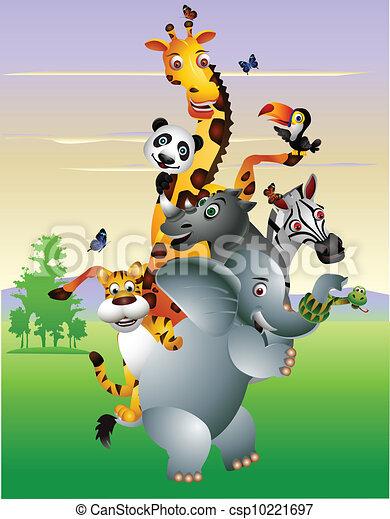 Wild African animal cartoon - csp10221697