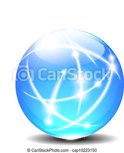Spheres Ball Communication lines - csp10223150