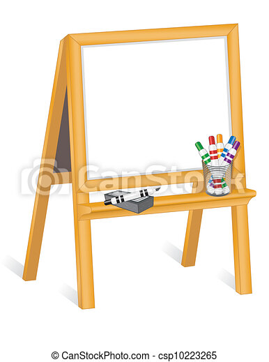 Clip Art Easel Clipart easel clip art vector graphics 1967 eps clipart and childs whiteboard on wood easel