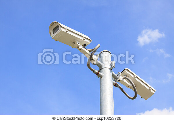 wall and cctv camera securities - csp10223728