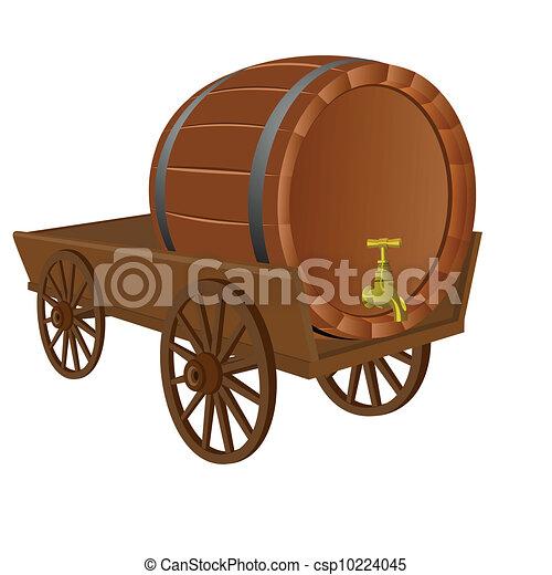 Cart with a keg - csp10224045