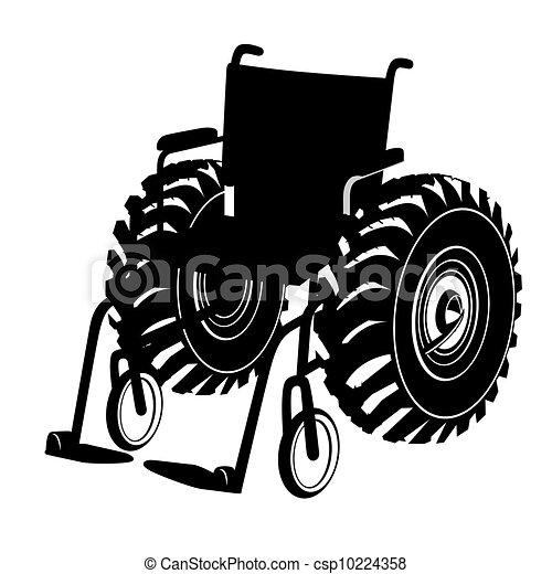 vecteur clipart de fauteuil roulant rigolote les