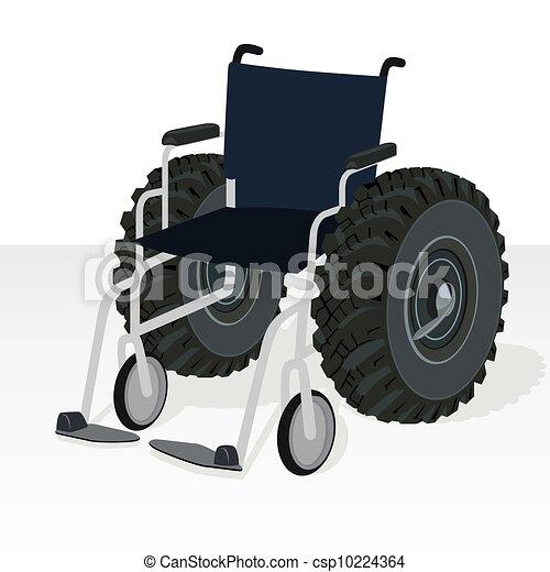 clip art vecteur de fauteuil roulant 224 les roues de