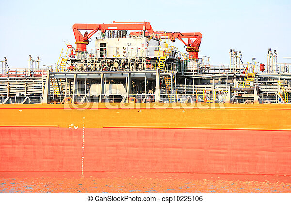 gas-carrier for loading operation in the port - csp10225106