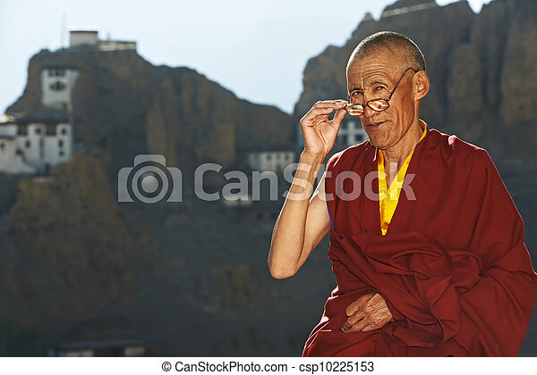 Indian tibetan monk - csp10225153