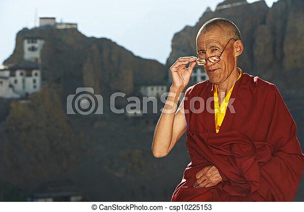 Indian tibetan monk - csp10225153