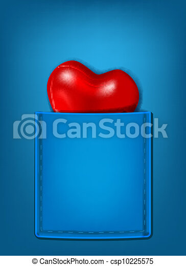 pocket heart - csp10225575