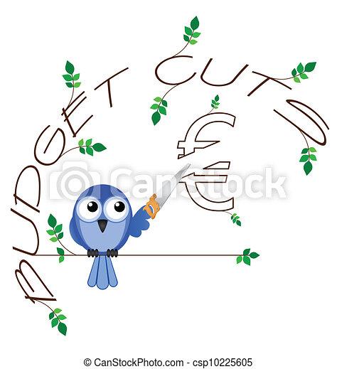 Budget cuts Euro  - csp10225605