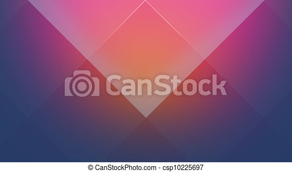 Pink-blue cubic background - csp10225697