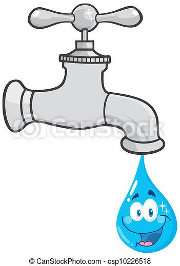 Vector clip art de agua grifo sonriente agua grifo for Grifo dibujo