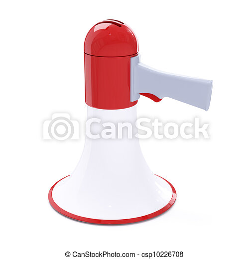 Red megaphone with red button - csp10226708