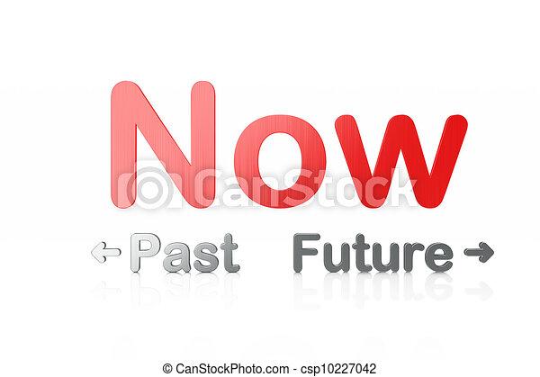 Timeline concept: 3d word Past-Now-Future - csp10227042