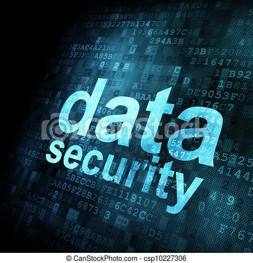 Security concept: Data on digital screen - csp10227306