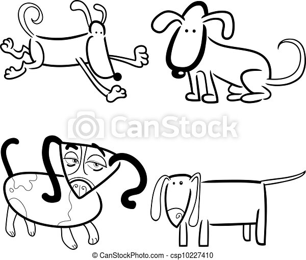 dogs or puppies for coloring - csp10227410