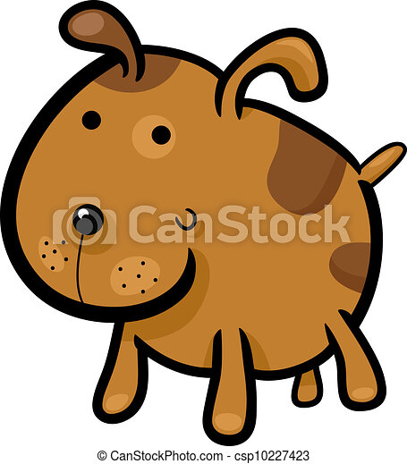 cartoon illustration of cute spotted dog - csp10227423