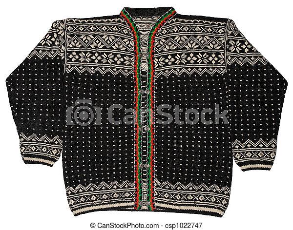 Norwegian Black Sweater - csp1022747