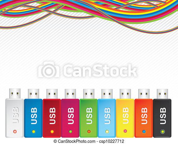 USB flash memory multicolor - csp10227712