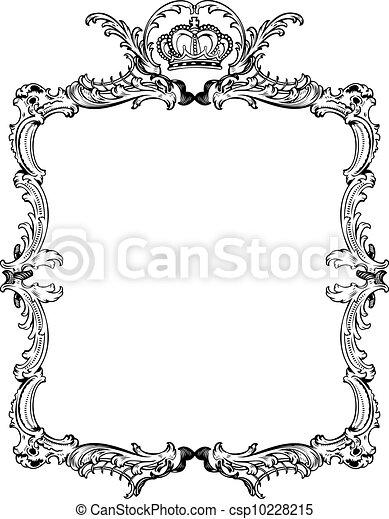 Decorative Vintage Ornate Frame. Vector Illustration. - csp10228215