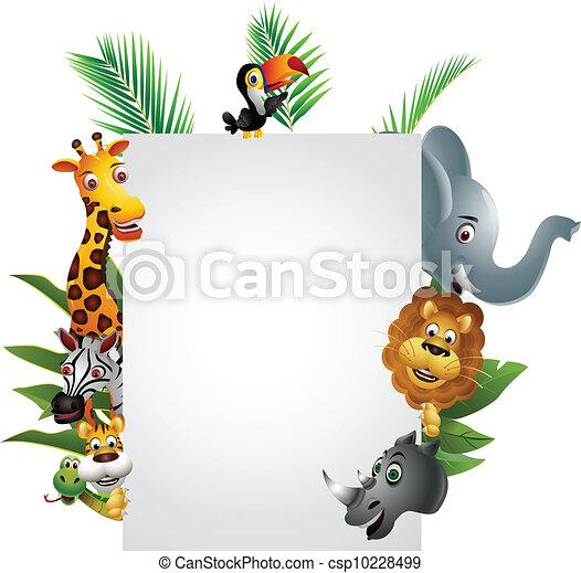 空白图片带动物