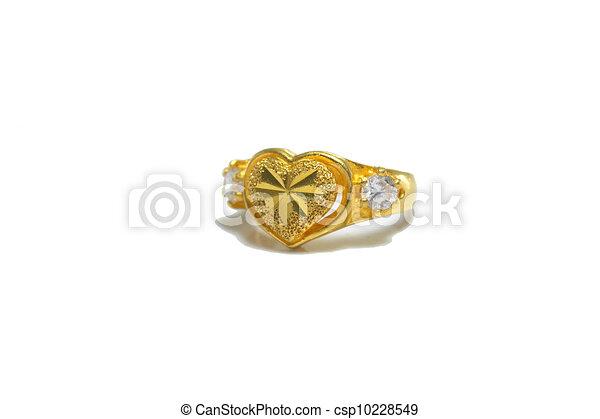 en forma de corazón, anillo - csp10228549