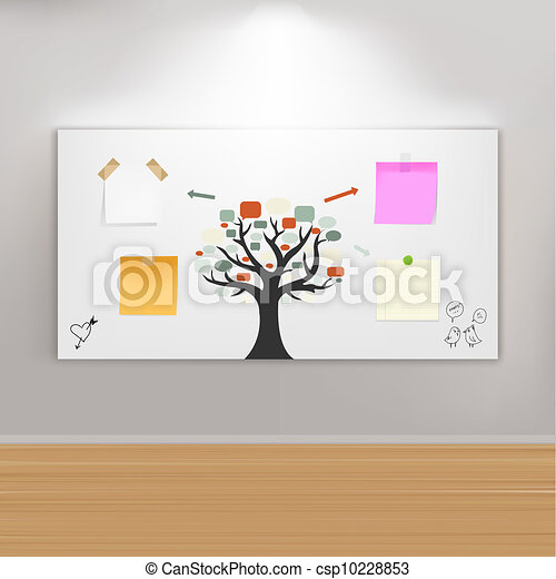 Paintings Frame On Wall With Reminders - csp10228853