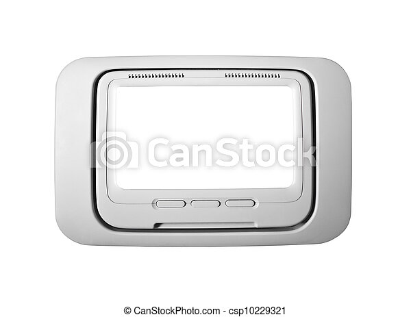 Airplane Seat Back Television Isolated - csp10229321