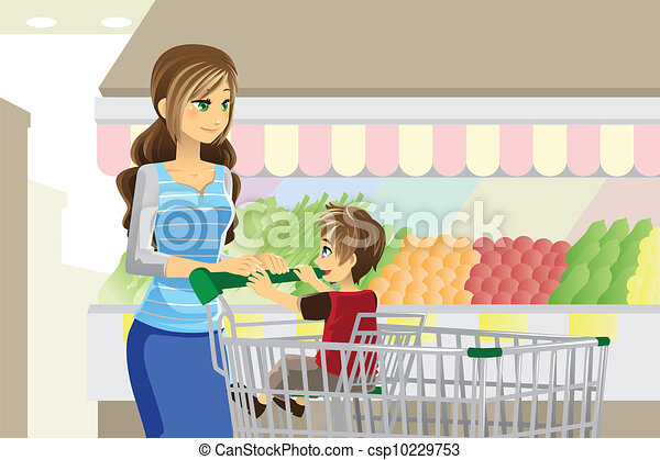 Grocery shopping - csp10229753