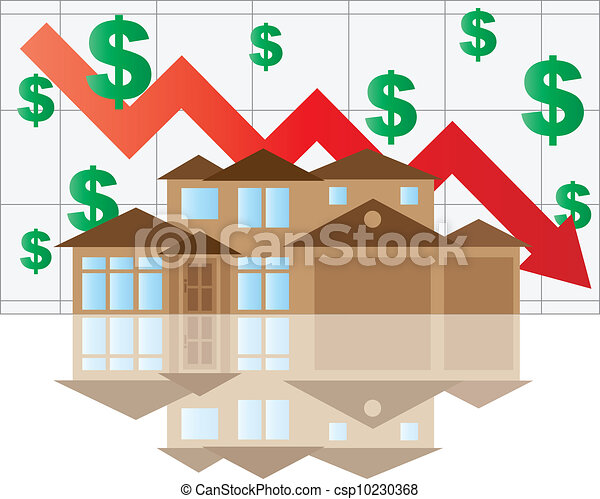 House Falling Value Graph - csp10230368