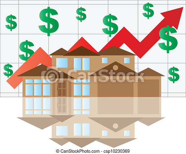 House Rising Value Graph - csp10230369
