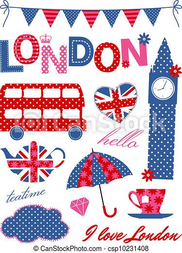 Clipart Vettoriali Di Londra Elementi Disegno Londra