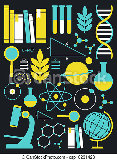 Education and Science Icon Set - csp10231423