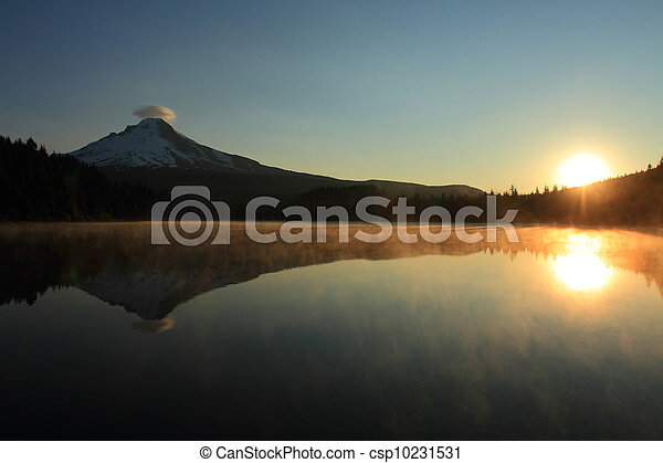 Mount Hood at sunrise - csp10231531