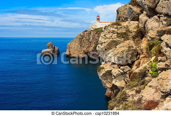 algarve, gorra, fin, mundo, portugal - csp10231884